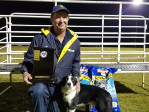 Milang Dog Trial Winner Anthony Ireland 2020