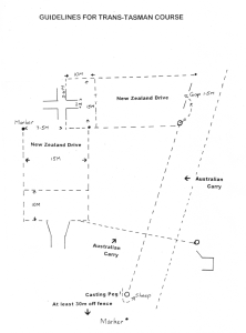 Trans Tasman Course Map